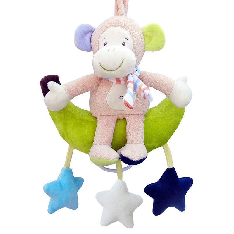 Baby Rattles Animal Plush Doll Pendant For Strollers With Bell Rattles For 0-12 months