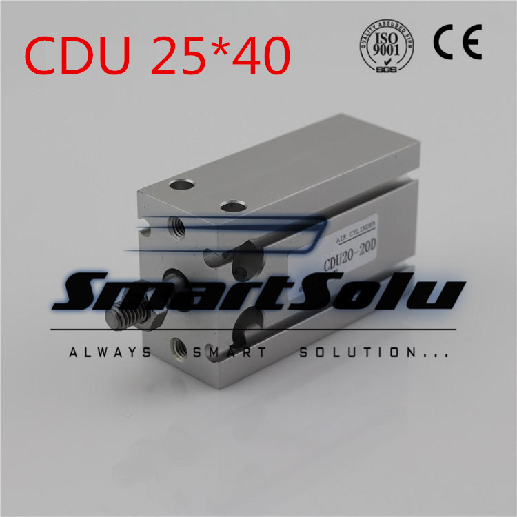 Free Shipping CDU 25*40  Male Thread Single Rod Air Pneumatic Cylinder CDU 25-40 free shipping cdu 20 5 male thread single rod air pneumatic cylinder cdu 20 5