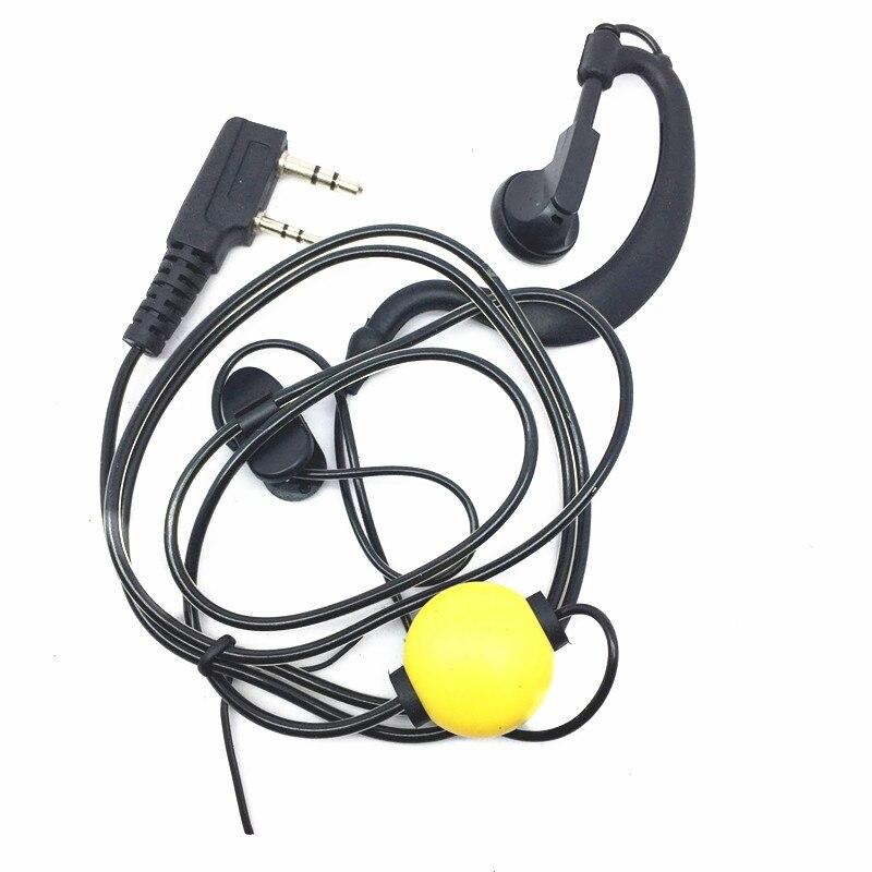 New PTT Black Crystal Headphones BAOFENG UV-5R UV-5RE UV-B5 UV 6R GT-3 UV-5X BF888S 2PIN Radios