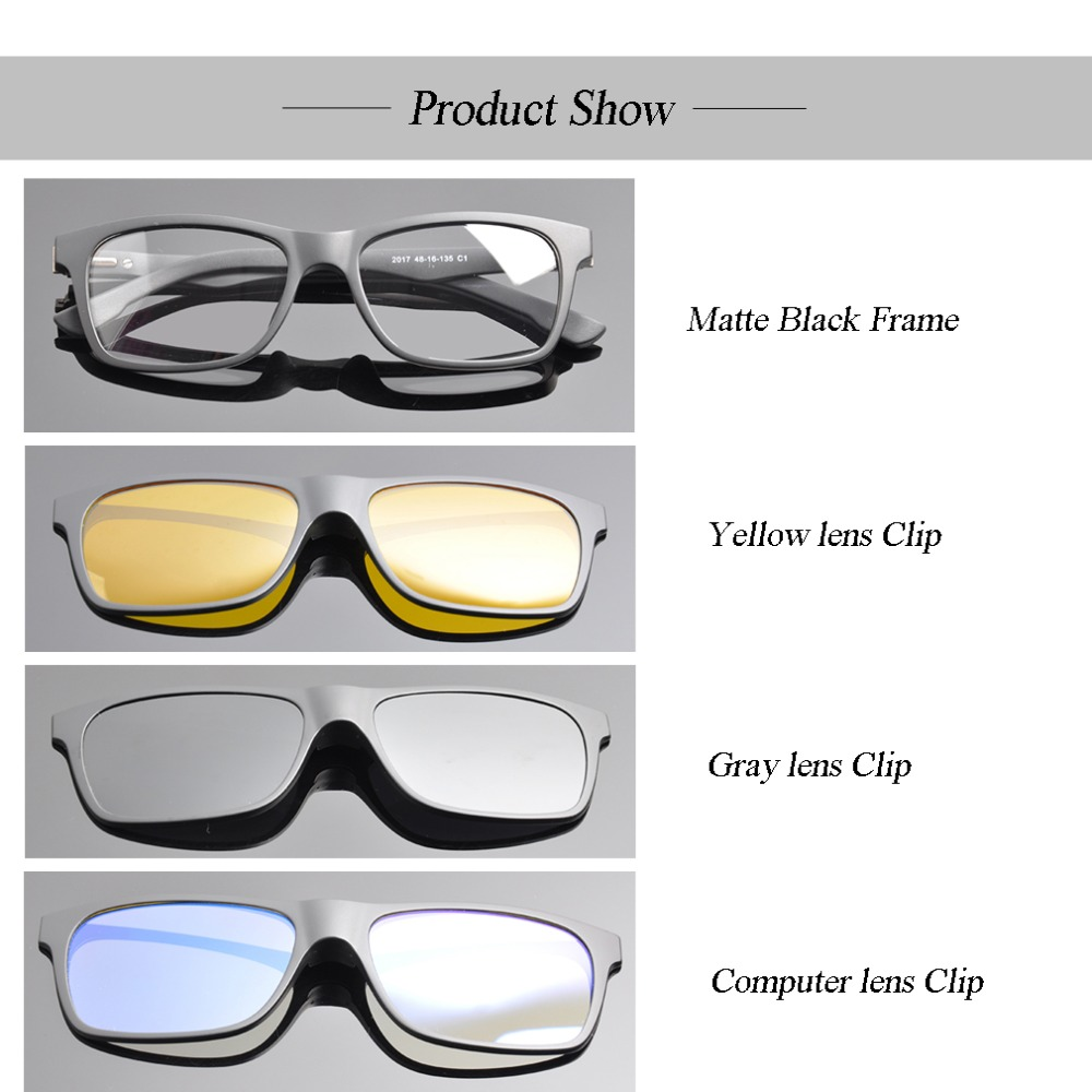 clip on sunglasses for kids 1 Frame with 3 clips Boys clip on sunglasses Boys Girls Super Comfortable Polarized Sunglasses 1478 in Sunglasses from Mother Kids