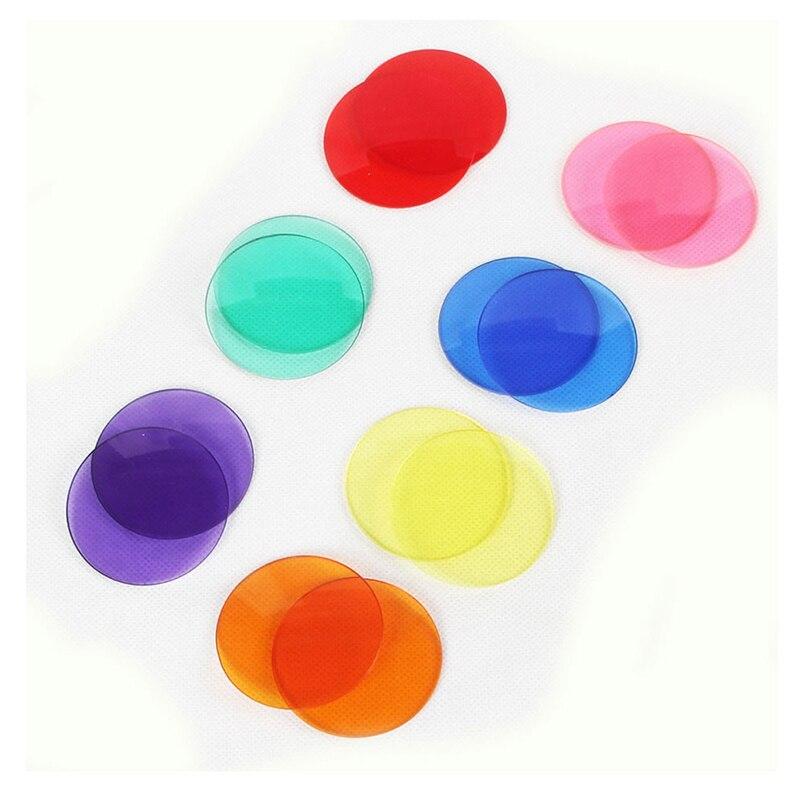 Пара Красочные Оптические стёкла для разнообразных партии DIY украшения очки реквизит