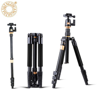 Professional Extendable QZSD Q555 55.5 Inches Aluminium Alloy Camera Video Tripod Monopod With Quick Release Plate Stand