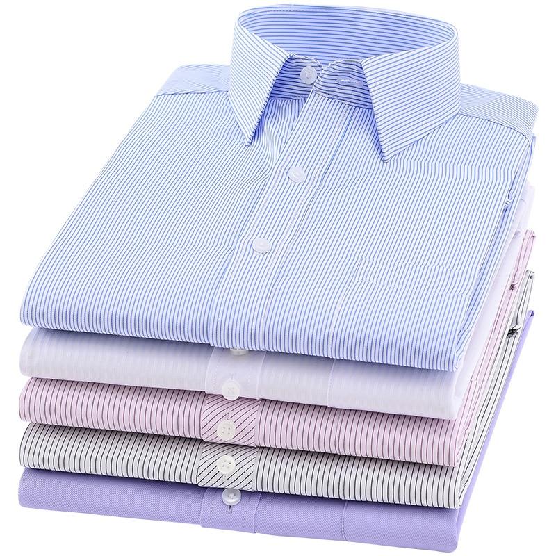 2019 Herenoverhemd Lange mouw Slim merk Herenoverhemden Designer Hoge - Herenkleding - Foto 4