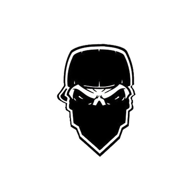 10 6 15 2cm stylish gangster mask skull car stickers vinyl decals interesting car styling black