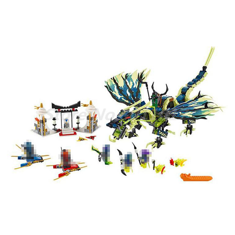 BELA Building Blocks 10400 Compatible with Ninja Attack of The Morro Dragon 70736 Figure Educational Toys For Children Gifts