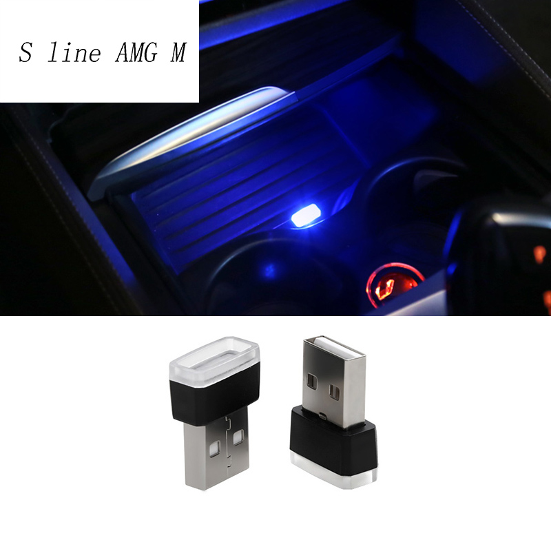 Car Styling Cup Holder storage box light <font><b>USB</b></font> Decorative For BMW F10 E90 F20 F30 E60 GT F07 X3 f25 X4 f26 X5 X6 E70 Accessories image