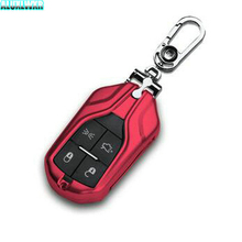 купить 4 colors Aluminum alloy Key Case Key Protection Covers Decoration Box For maserati ghibli LEVANTE Quattroporte Car Accessories дешево