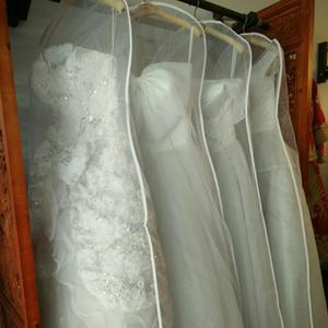 Image 2 - Wedding Dress Dust Bag Womens Clothing Storage Bag Display Display Case Transparent Double sided Mesh