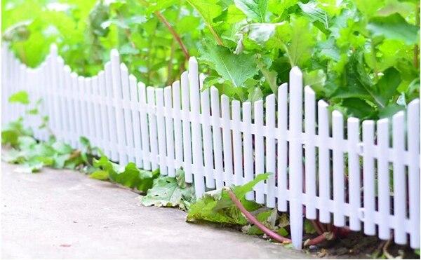 10Pcs/Lot White Fence Plastic Fence Garden Fencing Wholesale