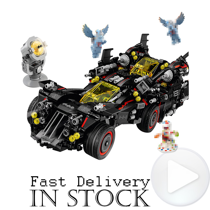 DC Batman The Ultimate Batmobile 1496PCS LEPIN 07077 Super Heroes Movie Building Blocks Bricks Superheroes Toys compatible 70917 lepin 07056 775pcs super heroes movie blocks the scuttler toys for children building blocks compatible legoe batman 70908