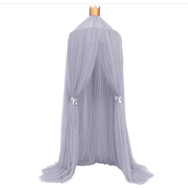 Palace Style Baby Crib Netting Bed Mantle Bed Nets Dome Tent Kids Room Decor Infants Sleep Bedside Crib Netting barraca infantil baby bed curtain kamimi children room decoration crib netting baby tent cotton hung dome baby mosquito net photography props