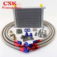 28 10AN Row Oil Cooler Kit Para Nissan 200SX S13 S14 S15 SR20 SR20DET 180SX