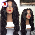 180 Density Peruvian Full Lace Wig With Baby Hair Body Wave With Bangs 100% Virgin Human Hair Wigs Black Women 8A Grade