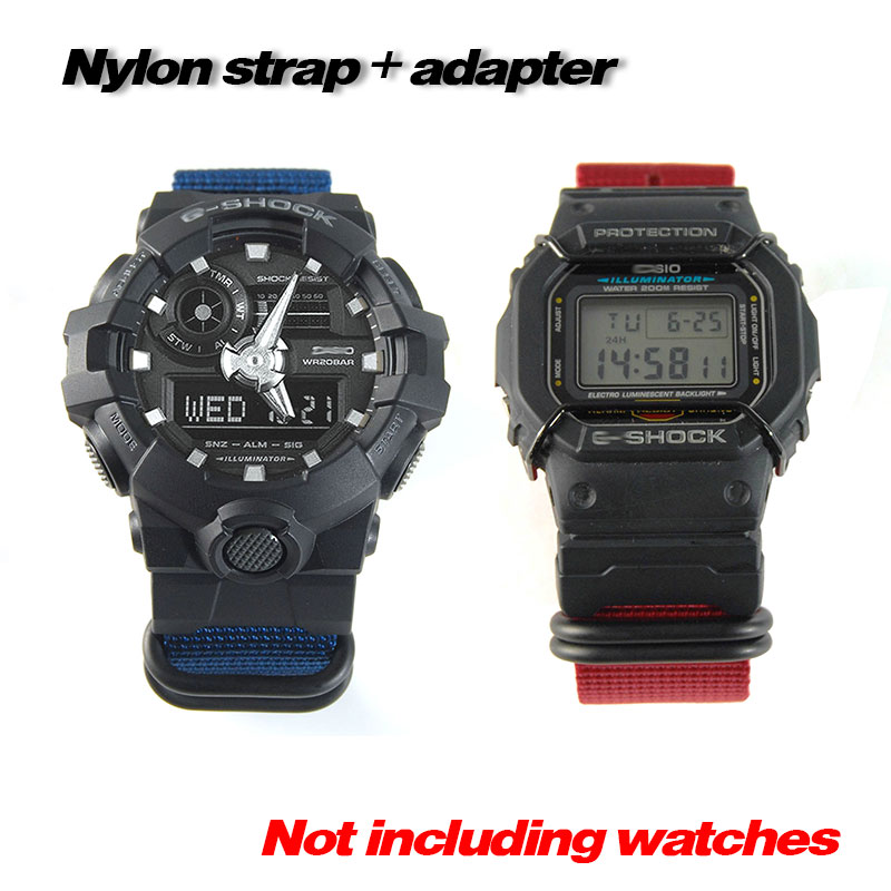 Set Of Terminals Replacement For /GD/GA -110 120 400 GA-700 DW-5600 6900 M5610 Series + Nylon Strap Watchbands