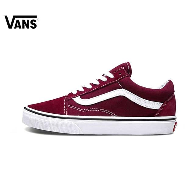 Novedad Original Vans hombres y mujeres clásico viejo Skool Skateboarding zapatos  deporte exterior zapatillas de lona 996e2f70e5b