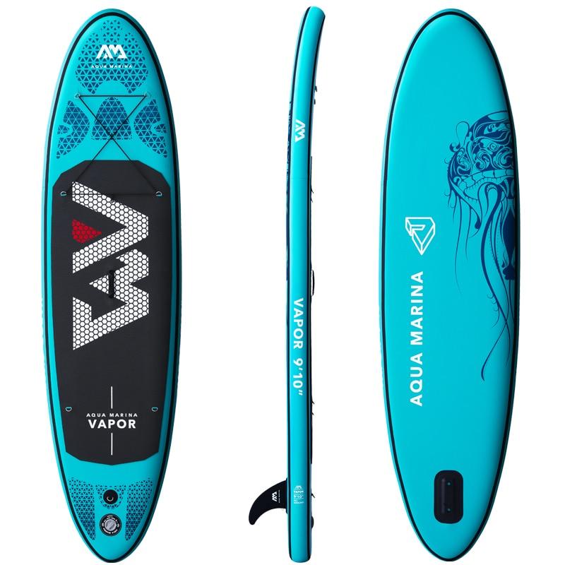2019 planche de surf 300*76*12 cm sup pad AQUA MARINA vapeur gonflable SUP stand up paddle board pêche kayak gonflable laisse siège - 5