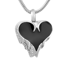 IJD8413 Stainless Steel Cremation Jewelry for Ashes Heart Locket Pendant Necklace Keepsake Funeral Urns Memorial Gift