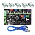 MKS Gen V1.4 control board Mega 2560 R3 motherboard RepRap Ramps1.4 kompatibel mit USB und 5 stücke A4988 Fahrer Für 3D drucker-in 3D Druckerteile & Zubehör aus Computer und Büro bei