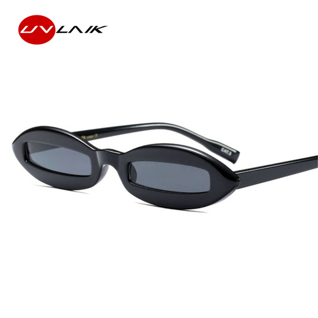 23393a1caf4 UVLAIK Design Women Cat Eye Sunglasses Small Oval Frame Sun Glasses Men  Unique Eyewear Funny Shades