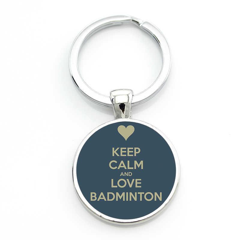 Tafree marca novidade na moda paz amor badminton chaveiro amantes dos esportes do vintage chaveiro chaveiro jóias clube presentes para homens sp359