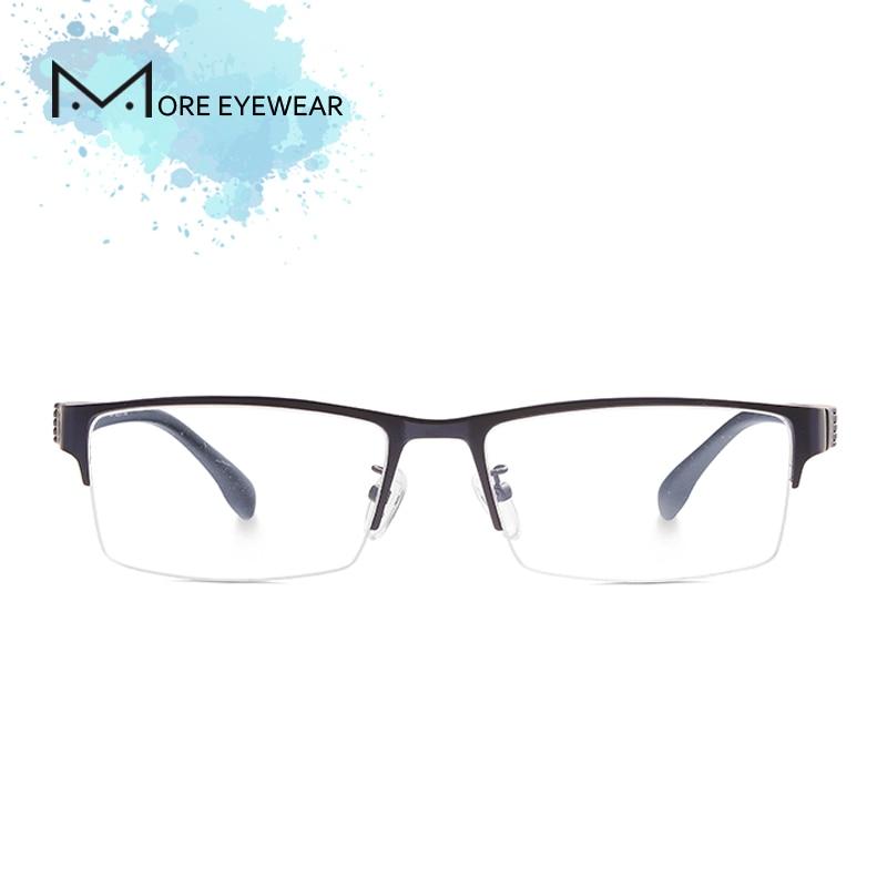Alloy Man Glasses Frame Metal & TR Prescription glasses with optical lens Male Frame Blue Cut Computer glasses Ultralight