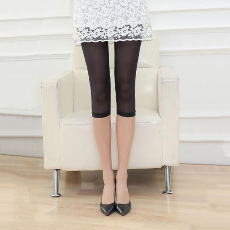 Liva Girl Fashion Heart Stripe Pattern Lace Mesh   Leggings   Hollow Out Mid-Calf   Leggings   Women Clothings Stretch Skinny Half Pants