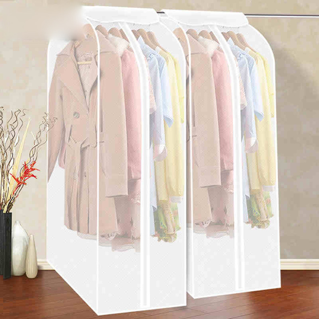 Large Capacity Home Clothing Dress Garment Storage Cloth Hanging Suit Coat  Dust Cover Protector Wardrobe Storage