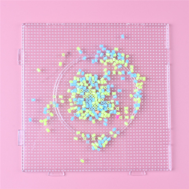 2.6mm Hama Bead Square Pegboard 3D Puzzle Template For Perler Beads Education Toys Fuse Beads Jigsaw Puzzle Perle de Hama