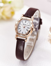 Gold Bracelet Watches Women Luxury Brand Leather Strap Quartz Watch For Women