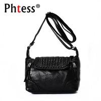 2017 Women Messenger Bags Flap Small Crossbody Bags For Women Leather Handbags Luxury Brand Female Vintage
