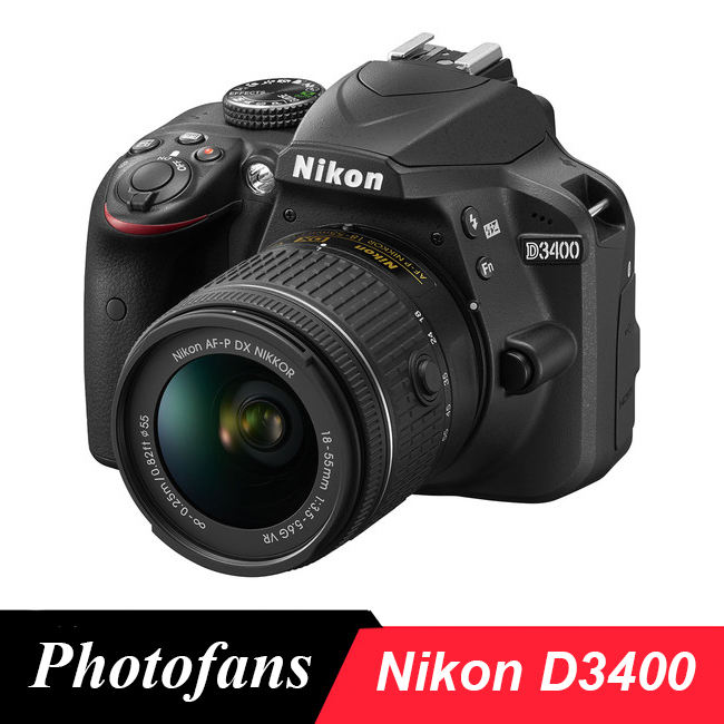 Nikon  D3400 DSLR Camera  -24.2MP  -Full HD 1080p -Bluetooth Connectivity nikon d5600 dslr camera 24 2mp full hd 1080p wi fi bluetooth 2016 new release