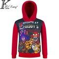 Cinco Noches En Freddy Niños Niño de Manga Larga Ropa 4-12 años niños Camiseta Fnaf Camisetas Con Freddy Camiseta de Niño Para Niños