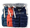 New Kids Children Thickened Thermal Vest Boy Baby with A Removable Cap Cotton Vest,Fashion Vest