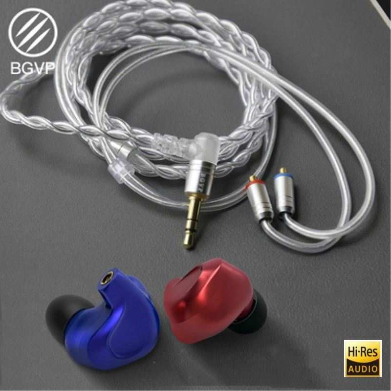 BGVP DMG 4BA+2DD Hi-Res Audio Hybrid Earphone Hi Fi In Ear Earbuds DJ Monitor Headset MMCX Replaceble Cable Headphones стоимость