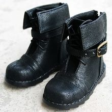 [wamami] 1/4 Black Synthetic Leather Shoes/Boots For MSD LUTS BJD AOD Dollfie