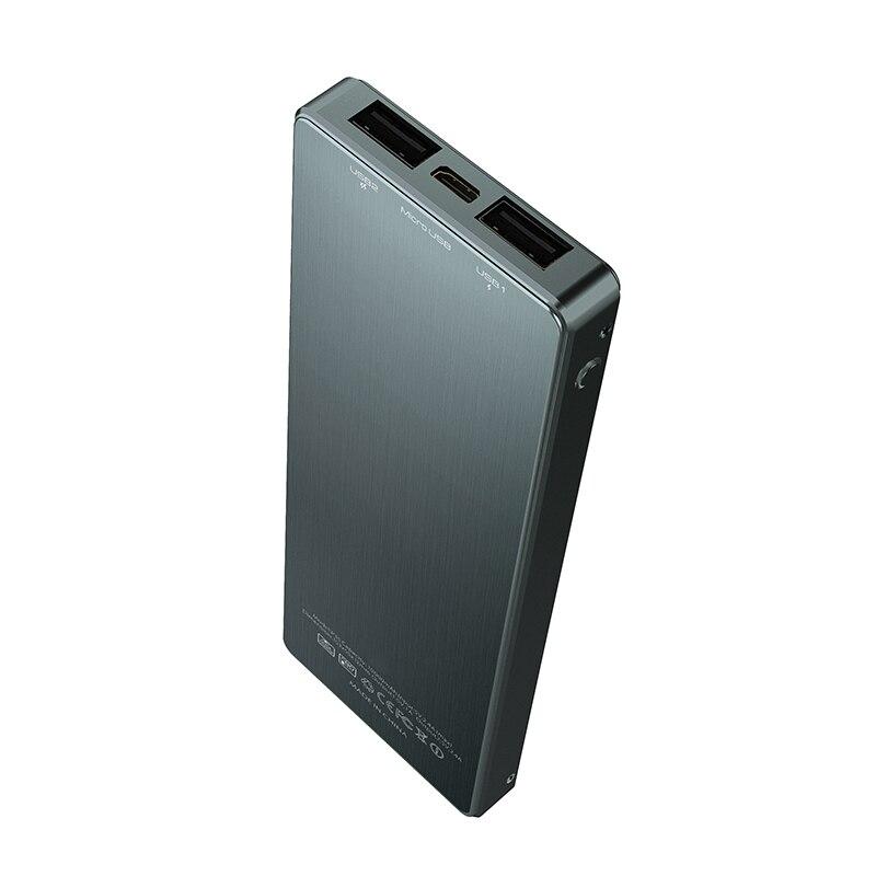 Envío gratis 100% brand new gold bar rectángulo capacidad real 9000 mah banco de la energía cargador de móvil para muchos dispositivos móviles