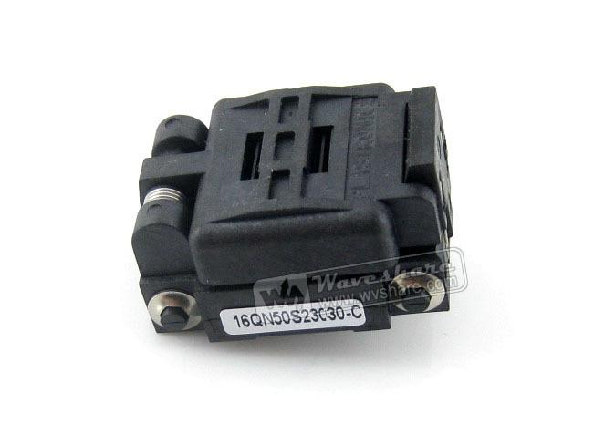 Plastronics 16QN50K23030 16QN50S23030 IC Test Socket Adapter 0.5mm Pitch for QFN16, MLP16, MLF16 Package Free Shipping rt8549lgqw rt8549l qfn16