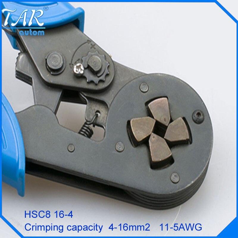 HSC8 16-4 SELF-ADJUSTABLE CRIMPING PLIER 4-16mm2 terminals crimping tools multi tool