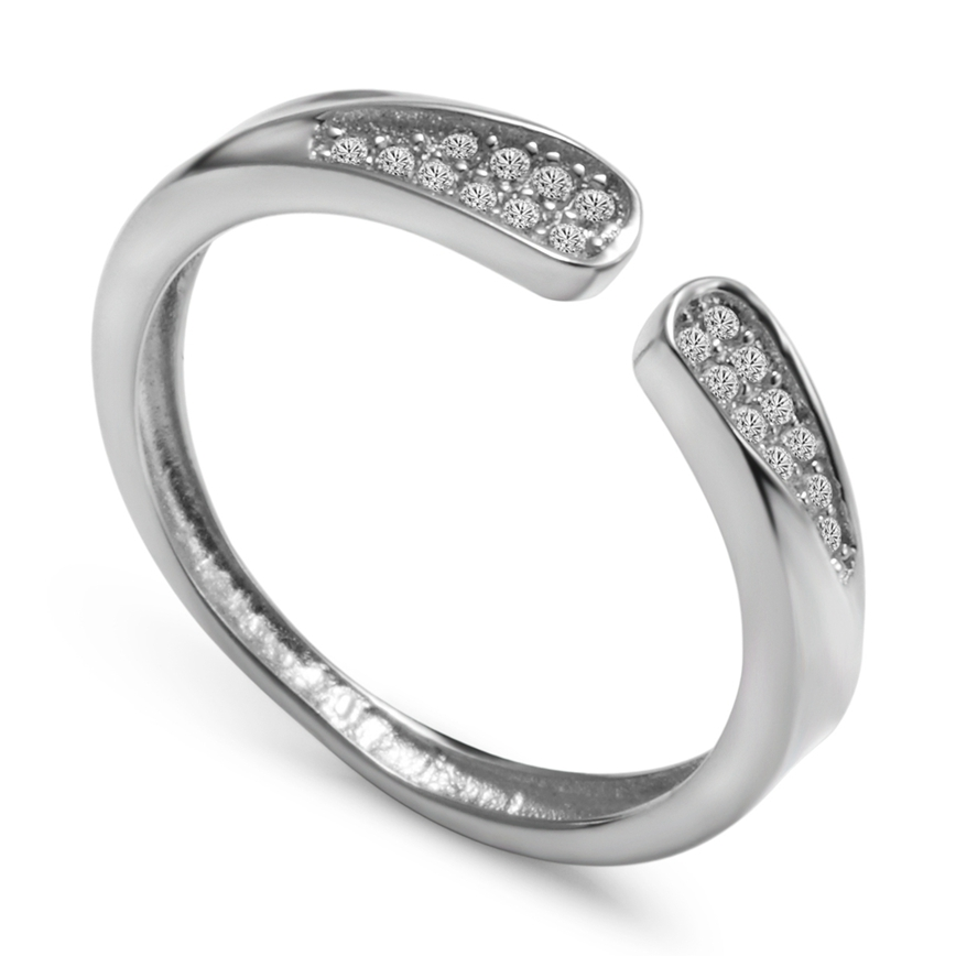 Eulonvan sumptuousness Pretty Lady The new listing White Cubic Zirconia 925 sterling silver Rings SS--K141Woman Noble Generous