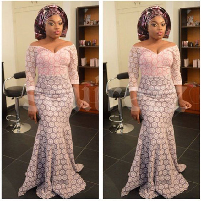 Wedding In Nigeria Traditional Dresses: Hitarget African Lace Fabric Wedding Dresses For Women