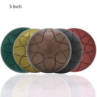 5 Inch 560g Hand Size Ultralight Tongue Drum 8 Notes with Bag and Drum Sticks 5 Colors Optional