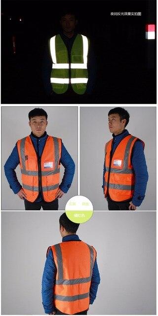 YUANMINGSHI Car Motorcycle Reflective Safety Clothing High Visibility Safety Vest Warning Coat Reflect Stripes Tops Jacket 5