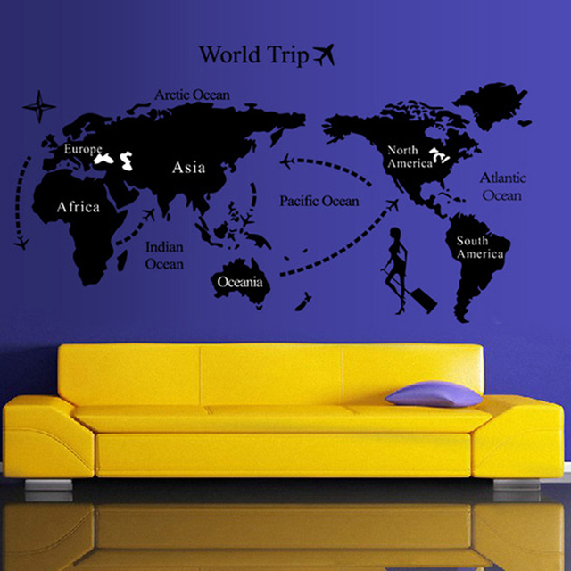 Hot 1pc world map personalized vintage travel world map poster hot 1pc world map personalized vintage travel world map poster sticker vacation national geographic retro maps gumiabroncs Image collections