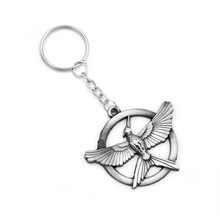 The Hunger Games Keychain Popular Vintage Style Birds Charm Snitch Pendent Key Chain Keyring Metal Keychains Car Holder