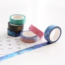 7 pcs/Lot Dreamlike paper masking stickers 15mm*8m  Fatanstic nebula tapes for diary album scrapbooking decoration FJ187