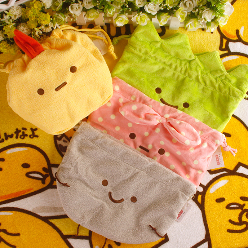 Cool 1PCS Sumikko Gurashi Cartoon Drawstring Bags Cute Plush Storage Handbags Makeup Bag Coin Bundle Pocket Purse NEW
