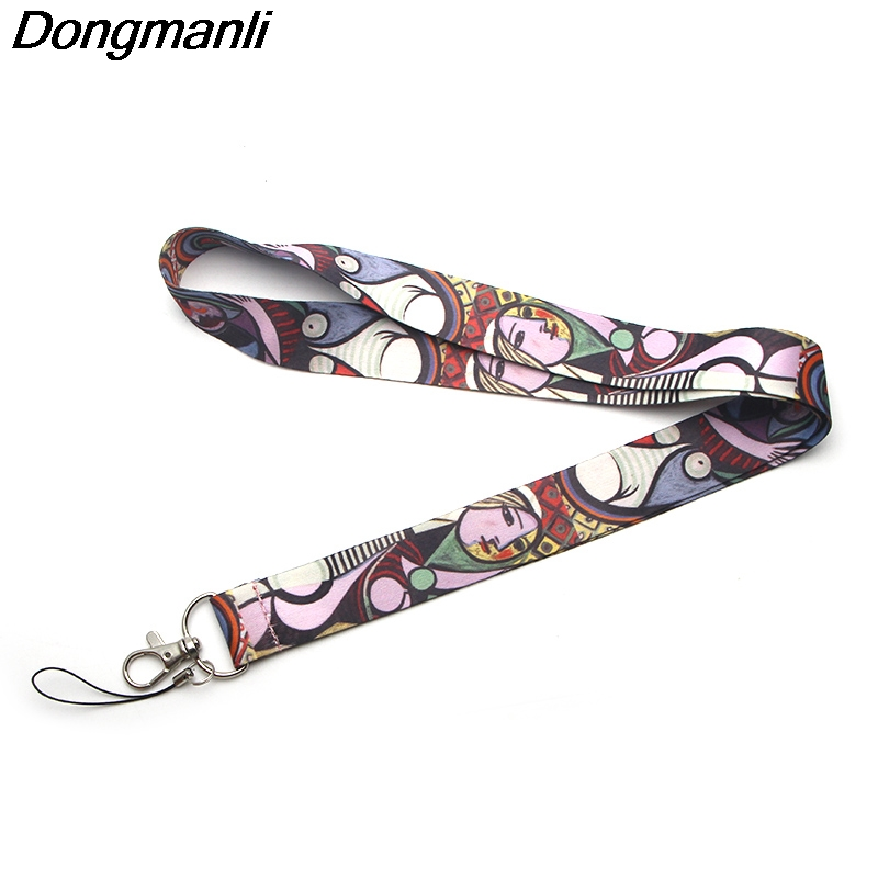 M1679 Dongmanli Picasso Famous paintings Lanyards personality keychain For Keys ID Card Pass Gym Mobile Phone USB Badge rope