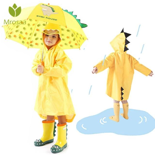 32d2ee489e9 Mrosaa Cute Small Dinosaur Waterproof Polyester Rain Coat Boy Children  Girls Windproof Poncho Kindergarten Student Baby Raincoat