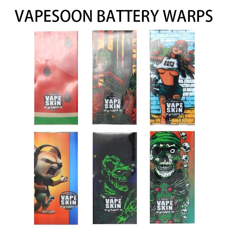 3pcs Original VapeSoon Protector Skin 18650 Battery Protected Wrapper Battery Wrap Skin Sticker For E Cigarette Battery