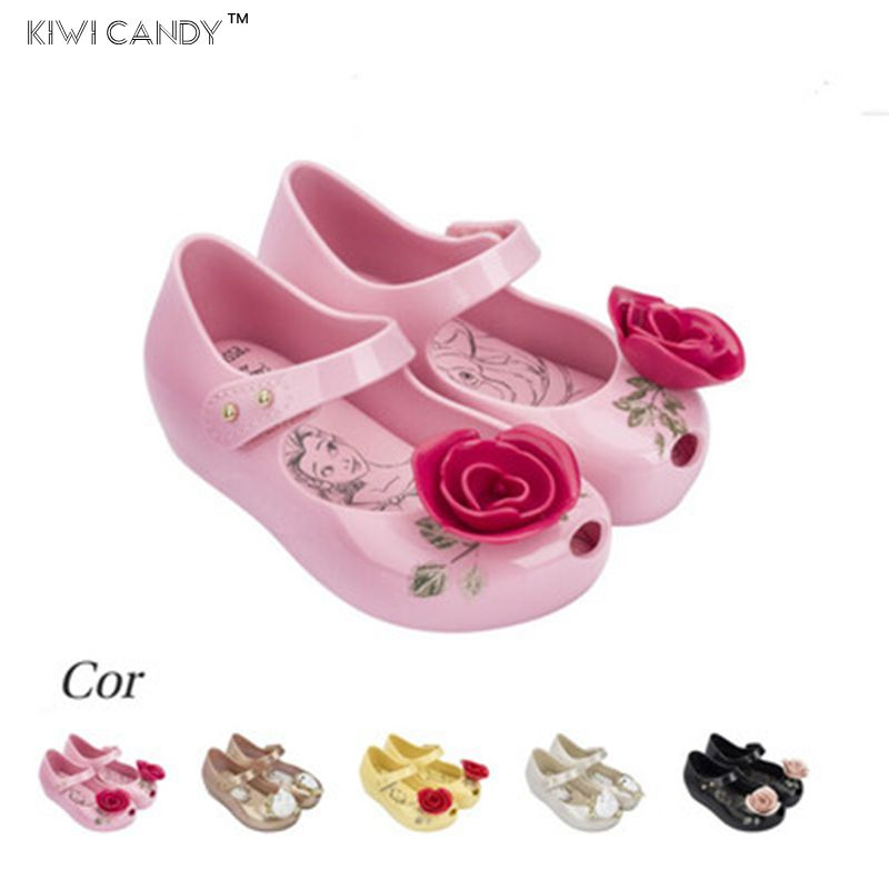 2017 sandals summer Beauty Beast mini kids Shoes boys girls Jelly Sandals high quality Princess 1-6Y non-slip Teacup Sandals